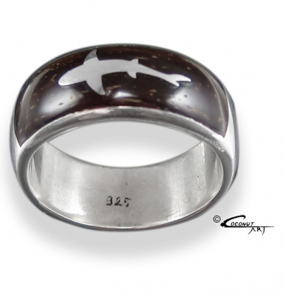Ring 'Shark-Inlay'