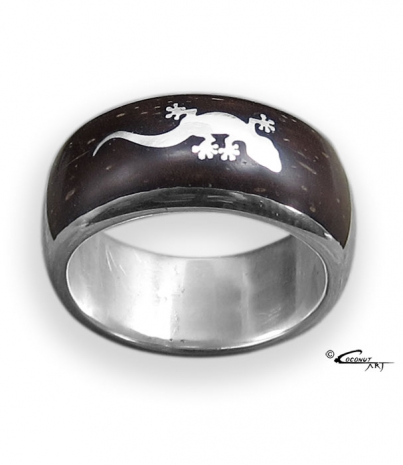 "Ring ""Gecko-Inlay"""