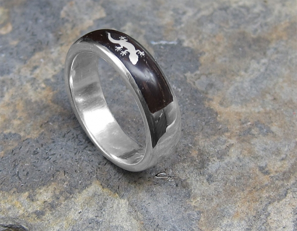 "Ring ""Gecko-Inlay Small"""